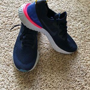 Nike women's epic React Flyknit. Size 7.5.